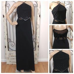 Dave & Johnny black formal dress size 6